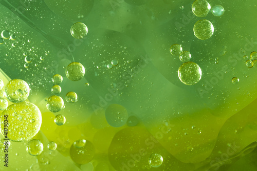Tela Abstract Green water bubbles background