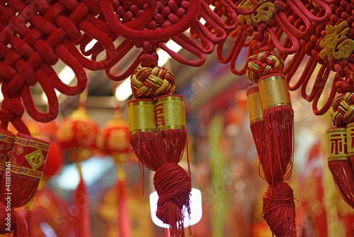 Photo Decorations, handicrafts at Wanchai Market, Hong Kong, prior to Chinese Lunar Ne