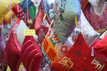 Decorations, Handicrafts At Wanchai Market, Hong Kong, Prior To Chinese Lunar New Year