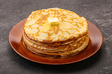 Stack Of Russian Traditonal Pancakes