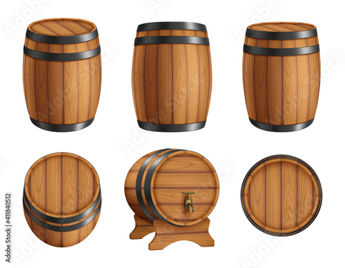 Fotografia Barrels alcohol