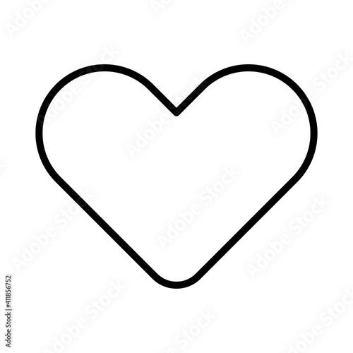 Obraz na płótnie Line Love Vector Icons on White Background