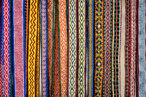 Foto Details of a traditional Lithuanian weave