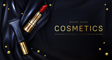 Lipstick Cosmetics Make Up Beauty Product Banner