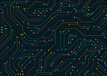 Electronic Circuit Board Close Up. Motherboard Digital Chip. High-tech Technology Background