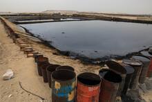 Oil Dump Evaporation Lake, Riyadh, Saudi Arabia, March 2020