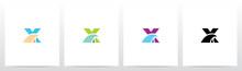 Simple Wave On Letter Logo Design X