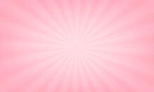 Pink Gradient Ray Happy Valentine's Day Background. Vector Design