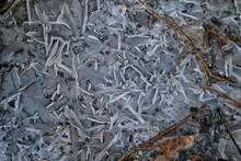 Full Frame Shot Of Frozen Puddle