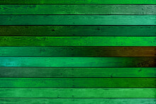 Wooden Colored Wall Made Of Green Planks