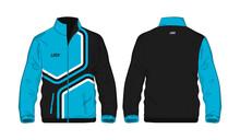 Sport Jacket Blue And Black Template For Design On White Background. Vector Illustration Eps 10.