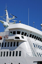 Quebec; Canada- June 25 2018 : A Ferry Which Cross The Saint Laurent River