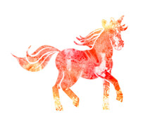 Unicorn Watercolor Texture Picture Isolated On White Background.