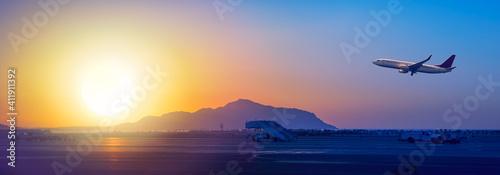 Airport Sharm el Sheikh at sunrise © Repina Valeriya