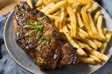 Homemade Rosemary Steak And French Fries