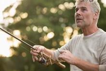 Close Up Man Fly Fishing