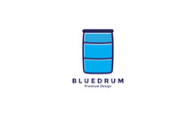 Blue Drum Water Logo Symbol Vector Icon Graphic Design Illustration
