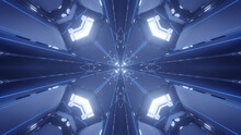 Blue Abstract Fractal Pattern Background