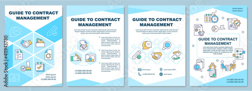 Obraz na plátne Guide to contract management brochure template