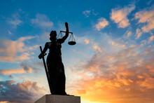 Turkey Izmir Cesmealti, Bronze Statue Of Justice