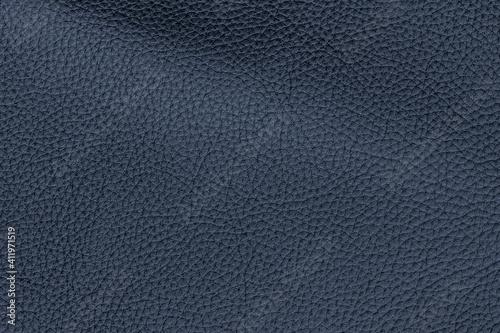 Fotografia, Obraz Dark blue color genuine cow hide leather