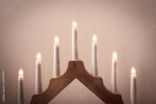 Fototapeta the classicism style electric lamp obraz