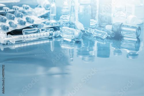 Fototapeta Close-up Of Medical Equipment On Table obraz