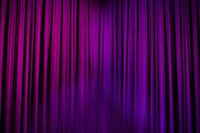 Theater Curtains Purple Light 01