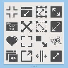 Simple Set Of Elaborate Related Filled Icons.