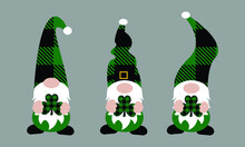 Buffalo Plaid  St Patrick's Day Gnome Vector And Clip Art