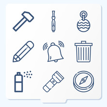 Simple Set Of 9 Icons Related To Suggest