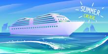 Summer Luxury Vacation On Cruise Ship