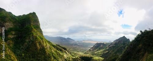 Fotografie, Obraz Panoramic View Of Landscape Against Sky