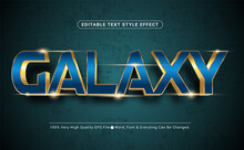 3D Galaxy Royal Blue Text Effect, Editable Text Effect