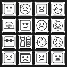 16 Pack Of Wretched  Lineal Web Icons Set
