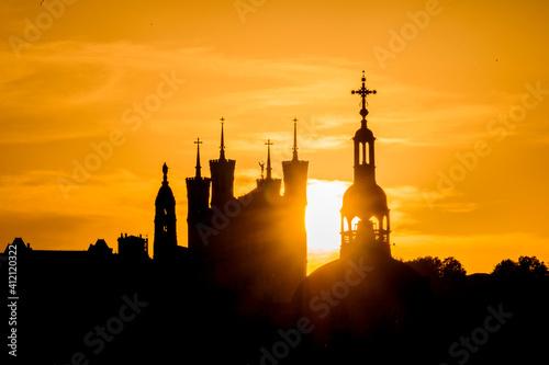Fototapeta La basilique de Fourvière à lyon