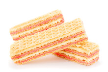 Sweet Wafers With Strawberry Stuffing