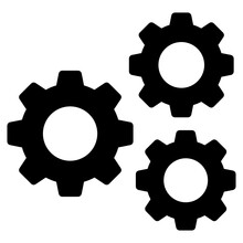Icon Of Gears, Solid Design
