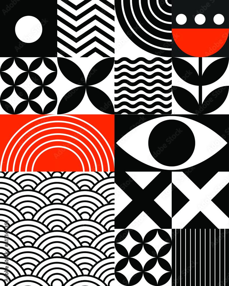 Fototapeta abstract geometric asian style vector background