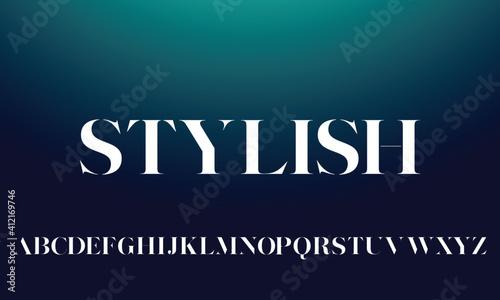 Vászonkép Modern minimal abstract alphabet fonts