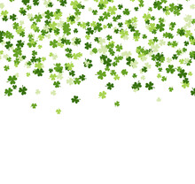 Saint Patrick's Day Background Made Of Clover