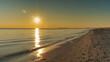 Leinwandbild Motiv Scenic View Of Sea Against Sky During Sunset
