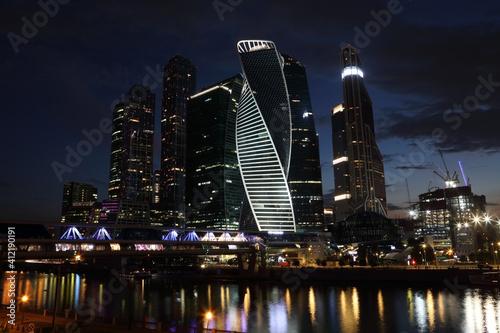 Moscow City at night, Russia © Alexey Kuznetsov