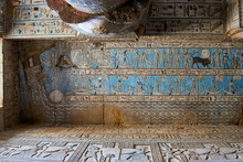 Hathoric Colums From The Ancient Egyptian Temple Of Dendera