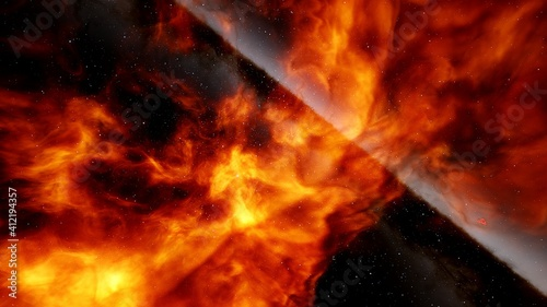 Fototapety, obrazy: Nebula in space, space HDRI, epic space background 3d render