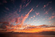 Amazing And Colorful Sunset Background