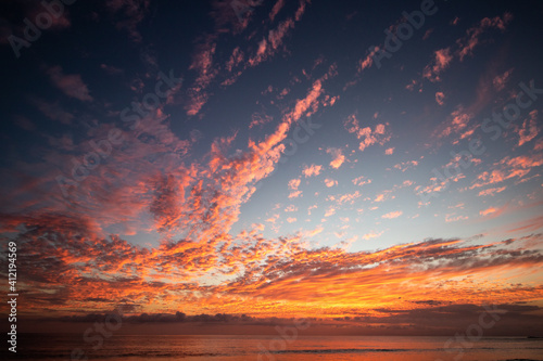 Amazing and colorful sunset background фототапет