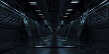 3d Si-fi Facility Design, Technology Concept Corridor