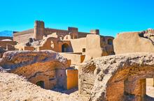 Rayen Castle Among The Clay Ruins, Iran