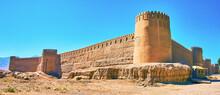 The Corner View Of Rayen Fortress, Iran